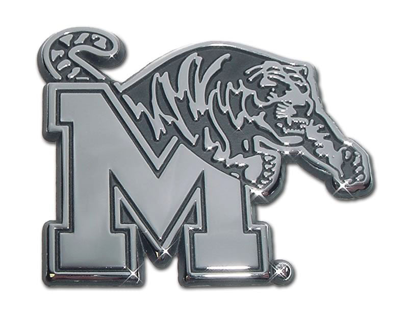 Memphis Tigers Chrome Metal Auto Emblem NCAA