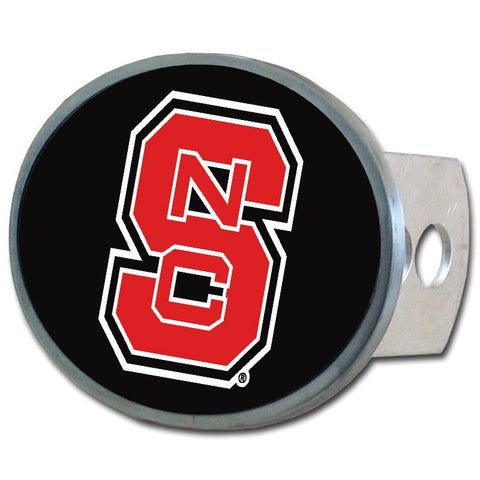 North Carolina State Wolfpack Metal Oval Hitch Cover (NCAA)