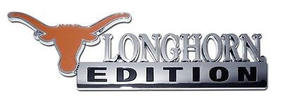 Texas Longhorns Chrome Auto Emblem (Longhorn Edition) NCAA