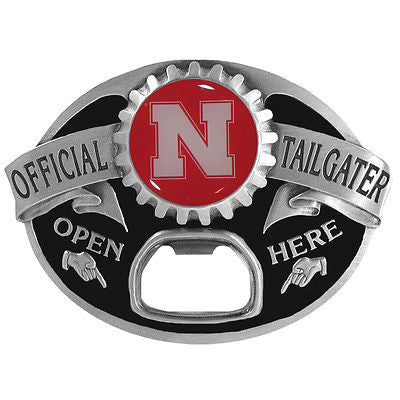 Nebraska Cornhuskers Tailgater Belt Buckle with Bottle Opener (NCAA)
