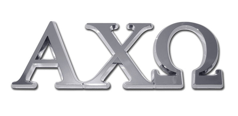 Greek Sorority Alpha Chi Omega Chrome Auto Emblem