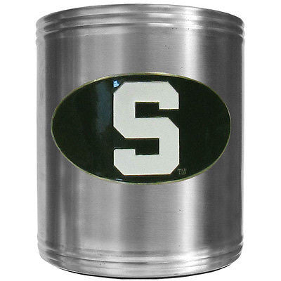 Michigan State Spartans Insulated Stainless Steel Can Cooler Coozie (NCAA)