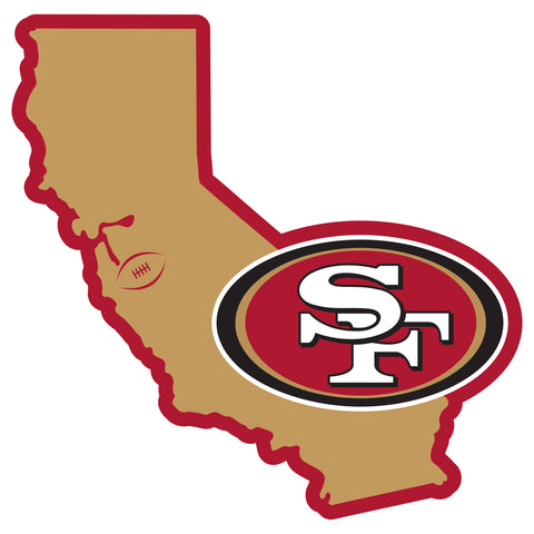 San Francisco 49ers Home State Magnet (NFL) California Shape