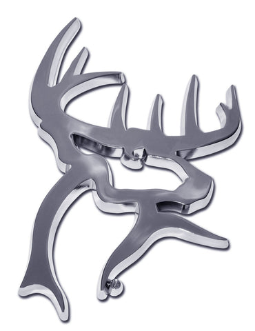 Buck Commander Chrome Auto Emblem (3-D Buck)