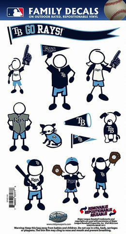 Tampa Bay Rays Outdoor Rated Vinyl Family Decals MLB