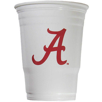 Alabama Crimson Tide 18 count 18 oz Disposable Plastic Cups (NCAA)