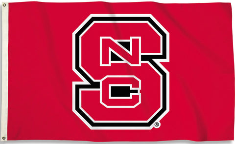 North Carolina State Wolfpack 3' x 5' Flag (Logo Only on Red) NCAA