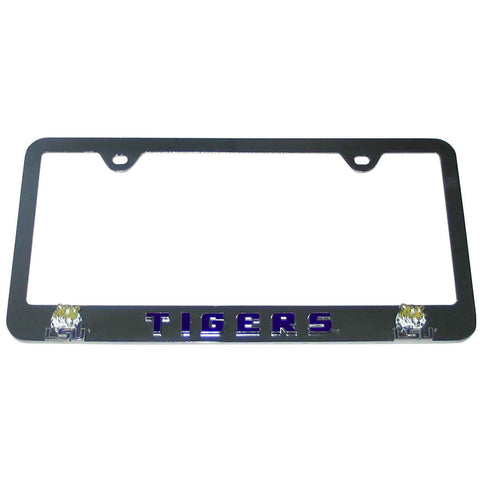 LSU Tigers 3-D Chrome Plated Metal License Tag Frame (NCAA)