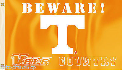 Tennessee Volunteers 3' x 5' Flag (Beware Vols Country) NCAA Licensed
