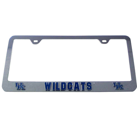 Kentucky Wildcats 3-D Chrome Plated Metal License Tag Frame (NCAA)