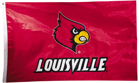 Louisville Cardinals 3' x 5' Flag (Two Sided Nylon Appliqued) NCAA