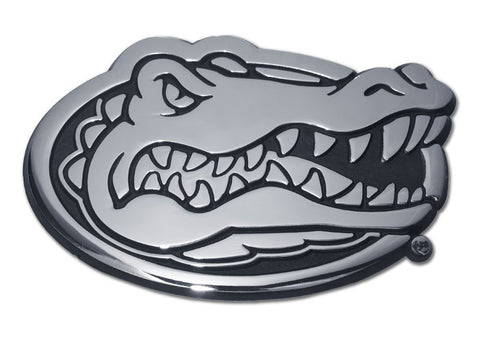 Florida Gators Chrome Metal Auto Emblem (Gator Head) NCAA