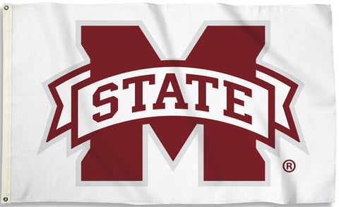 Mississippi State Bulldogs 3' x 5' Flag (Logo Only on White) NCAA