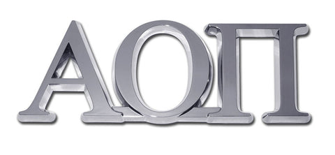 Greek Sorority Alpha Omicron Pi Chrome Auto Emblem
