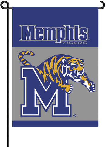 "Memphis Tigers 13"" x 18"" Two Sided Garden Flag NCAA"