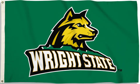 Wright State Raiders 3' x 5' Flag (Logo Only on Green) NCAA