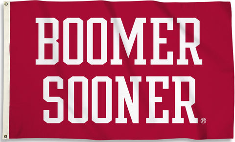 Oklahoma Sooners 3' x 5' Flag (Boomer Sooner on Crimson) NCAA