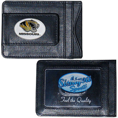 Missouri Tigers Fine Leather Money Clip (NCAA) Card & Cash Holder