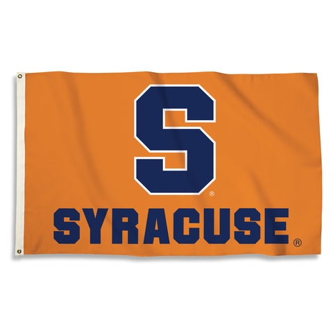 Syracuse Orange 3' x 5' Flag (Logo w/ Wordmark) NCAA