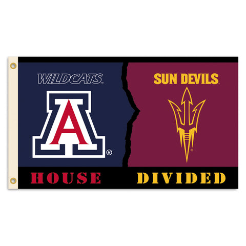 Arizona State Sun Devils Arizona Wildcats 3' x 5' House Divided Flag NCAA