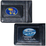 Kansas Jayhawks Fine Leather Money Clip (NCAA) Card & Cash Holder