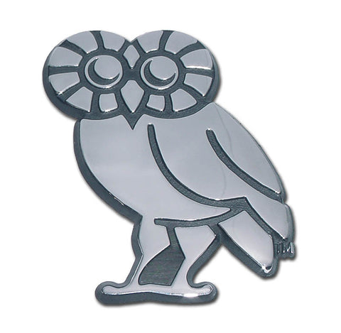Rice University Owls Chrome Metal Auto Emblem (Owl) NCAA