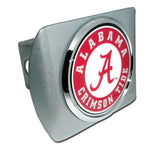 Alabama Crimson Tide Brushed Chrome Metal Hitch Cover (Seal) NCAA