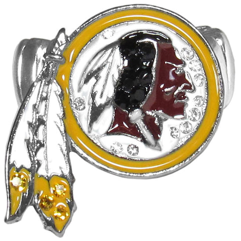 Washington Redskins Stretch Ring, Team Logo with Crystals NFL Football