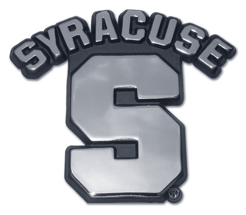 "Syracuse Orange Chrome Metal Auto Emblem (""S"") NCAA"
