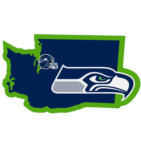 Seattle Seahawks Home State Vinyl Auto Decal (NFL) Washington Shape