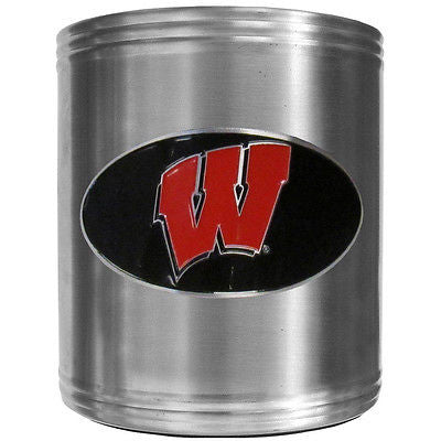 Wisconsin Badgers Insulated Stainless Steel Can Cooler Coozie (NCAA)