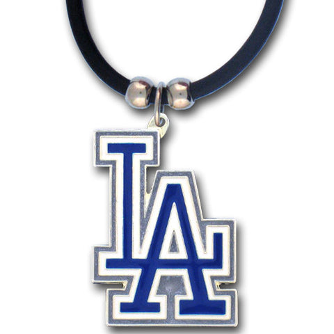 Los Angeles Dodgers Rubber Cord Necklace (MLB)