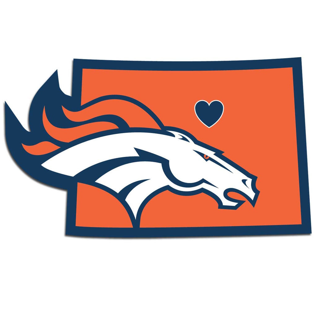 Denver Broncos Home State Vinyl Auto Decal (NFL) Colorado Shape