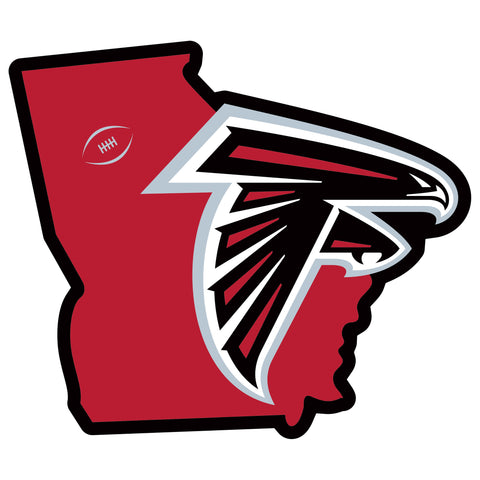 Atlanta Falcons Home State Magnet (NFL) Georgia Shape