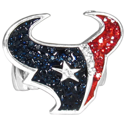 Houston Texans Stretch Ring, Team Logo with Crystals NFL Football
