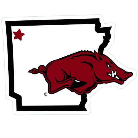 Arkansas Razorbacks Home State Magnet (NCAA) Arkansas Shape