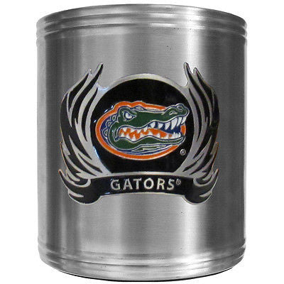 Florida Gators Insulated Stainless Steel Can Cooler Coozie (Flames) (NCAA)