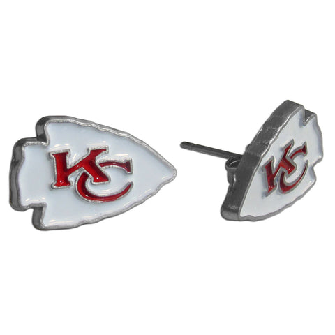 Kansas City Chiefs Stud Earrings (Logo) NFL Jewelry