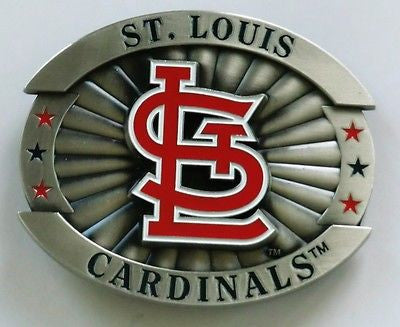 "St. Louis Cardinals Over-sized 4"" Pewter Metal Belt Buckle (MLB)"