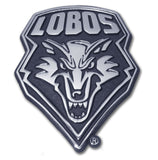 New Mexico Lobos Chrome Metal Auto Emblem NCAA