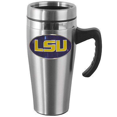 LSU Tigers 14 oz Stainless Steel Travel Mug with Handle (NCAA)