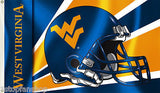 West Virginia Mountaineers 3' x 5' Flag (Football Helmet) NCAA