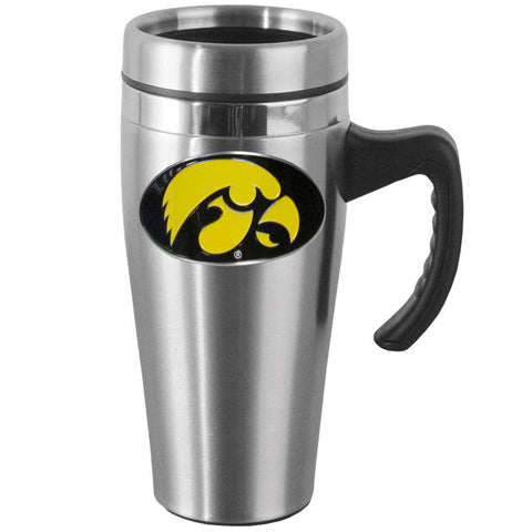 Iowa Hawkeyes 14 oz Stainless Steel Travel Mug with Handle (NCAA) EN