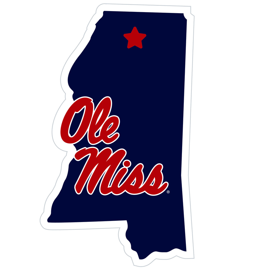 Ole Miss Rebels Home State Magnet (NCAA) Mississippi Shape