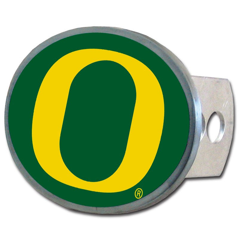 Oregon Ducks Metal Oval Hitch Cover NCAA Licensed
