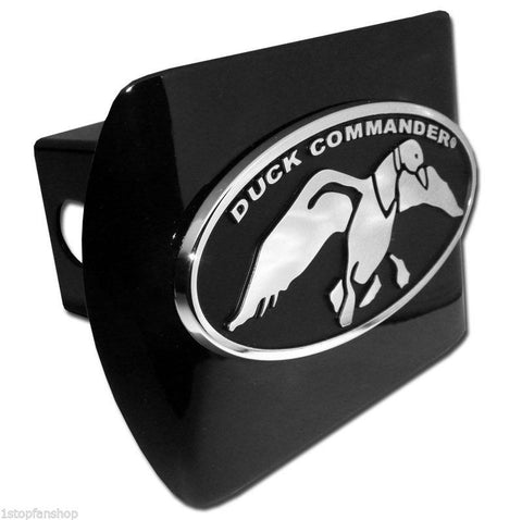 Duck Commander Chrome Metal Black Hitch Cover (Oval)