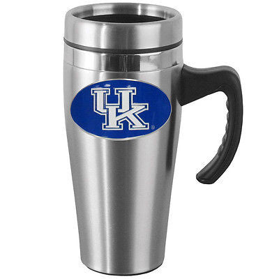 Kentucky Wildcats 14 oz Stainless Steel Travel Mug with Handle (NCAA)