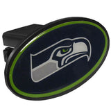 Seattle Seahawks Durable Plastic Oval Hitch Cover (NFL)