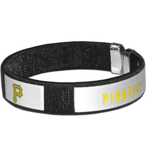 Pittsburgh Pirates Fan Band Bracelet MLB Licensed Baseball Jewelry