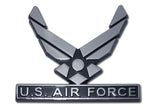 U.S. Air Force Chrome Metal Auto Emblem (Wings)